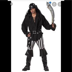NEW men's L swashbuckler pirate costume w/sword